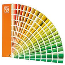 Quạt màu sơn nước RAL D2