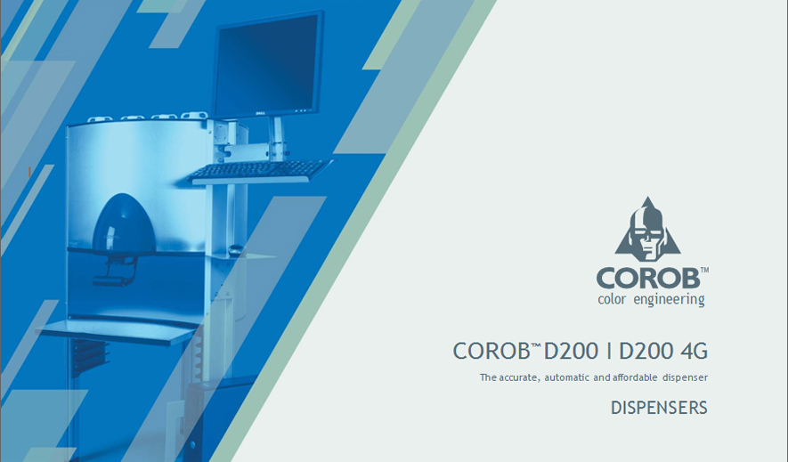 Máy pha màu sơn dầu COROB D200