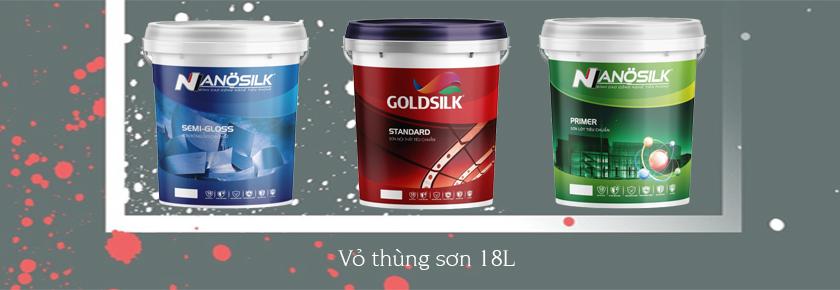Thiết kế vỏ thùng sơn 1l, 5l, 18l